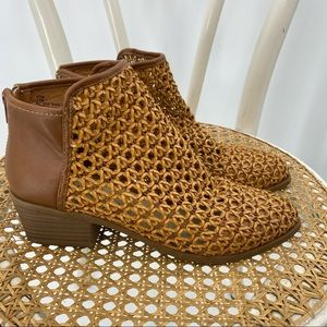 Dolce Vita weaved brown ankle booties